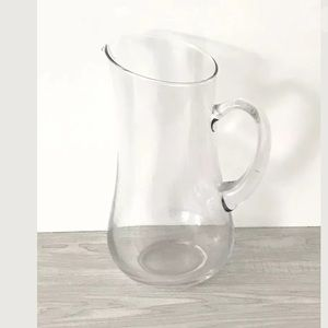 Large Glass Pitcher Curved Handle 96oz